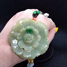 天然緬甸玉 a貨 雕花件 陽綠 黃+綠翡翠 紅翡珠 一生富足白冰  附繩鍊 玉大約54*6mm 翡翠種水美