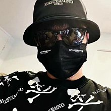 MOMO精品#日本 mastermind japan 聯名款evolovetogether新款MMJ骷髏骨頭黑色7層保護口罩獨立套装