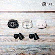 繩尾扣(一組2個) 雙孔扣 面鏡編織帶 面鏡帶 加購 台灣製造