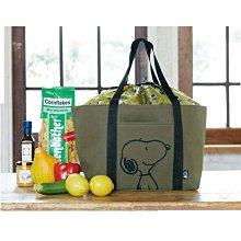 日本 史努比 雜誌附錄 大容量 摺疊 折疊 束口 購物袋環保袋買菜野餐旅行出遊 肩背包托特包 Snoopy 生日禮物