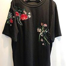 [顯瘦]++特價++新作入荷  日本購入  顯瘦~繁複立體花柄刺繡設計棉質上衣衫(黑)布料帶點彈性