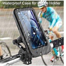 騎自行車腳踏車手機支架 機車送貨員摩托車防雨支架 把手機通用支架防雨水折疊式伸縮 外送員導航防水支架
