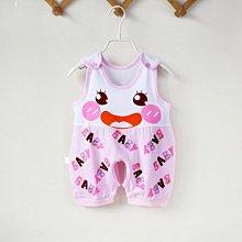 夏季新生兒哈衣男女寶寶衣服0-3-6-12個月1歲純棉夏天嬰兒連體衣