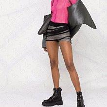 【WEEKEND】 RICK OWENS Runway 特殊剪裁 雙層 黑紗 彈性 超短褲 黑色
