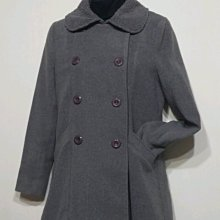 專櫃品牌 日本  THE EMPORIUM 羊毛 外套 內刷毛 保暖 淑女-女款-灰-38號(M)【JK嚴選】鬼怪