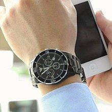 全新正品EMPORIO ARMANI亞曼尼手錶(AR1421)黑色精密陶瓷石英男生三眼計時時尚腕錶 43mm /ARMANI腕錶/陶瓷錶