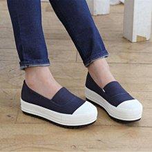 DANDT 韓版厚底鬆緊帆布厚底鞋 跟高4cm (SEP 20 7005) 同風格請在賣場搜尋 TAI 或 韓國鞋款