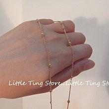 Little Ting Store(簡單單鏈)單鍊 金球蛇練短項鍊串鏈珠頸鍊 鎖骨鏈 無綴飾可以自行DIY促銷價75元