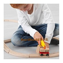鬍子熊 IKEA代購~ 玩具火車起重機貨車3件組, 上半部零件可拆卸 不含雙酚A不含塑化劑 LILLABO