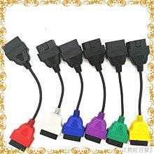 6 色汽車 OBD2 連接器診斷適配器電纜,用於 ECU 掃描和 Multiecuscan 6 色電纜汽車零件【興旺百貨】kmjo8546