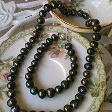 *全新*沙巴黑色海水珍珠項鍊9x10mm