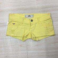 【愛莎&嵐】 HOLLISTER 女款亮黃色熱褲/23 1090612