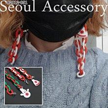 首爾飾集 正韓國製 歡樂聖誕雪人聖誕帽口罩收納口罩鍊口罩項鍊口罩鏈92012-051