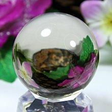 孟宸水晶 = A9046  (100%天然超清透茶黃水晶球169克)