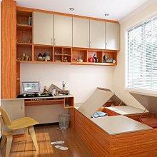耐磨木地板架高收納櫃系統掀櫃裝潢家具