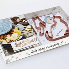 ☆║IRIS Zakka║☆ 法文版 20種美味餅乾食譜書 銅製漂亮的貓杯緣餅乾壓模