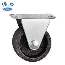 熱銷款-1.5寸鑄鐵輪子直徑40mm金屬家具定向腳輪高度5厘米全鐵輪