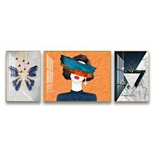 油畫客廳裝飾畫現代簡約沙發背景墻新款高檔大氣晶瓷三聯組合藝術掛畫