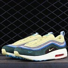 """Nike Air Max 1/97 VF""""Sean Wotherspoon""""彩虹 燈芯絨 經典 休閒運動鞋 AJ4219-400 女"""