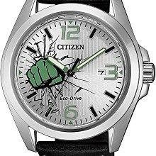 日本正版 CITIZEN 星辰 AW1431-24W 漫威 浩克 手錶 男錶 光動能 日本代購