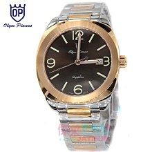 【JAYMIMI傑米】OP 奧林比亞之星 全新原廠公司 紳士玫瑰金不鏽鋼手腕錶 水晶鏡面 #OP錶