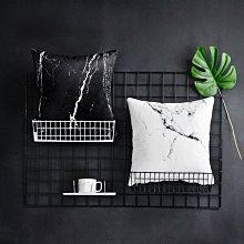 C - R - A - Z - Y - T - O - W 雙面圖北歐風大理石紋抱枕沙發抱枕床頭抱枕高檔時尚居家裝飾靠枕