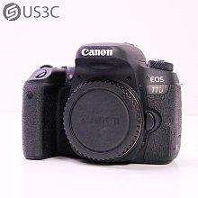 【US3C-台中店】Canon EOS 77D 單機身 WiFi 快門2323次 2420萬畫素 二手單眼相機 APS-C