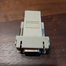 二手良品 RJ45 轉 RS232 轉接線 轉接器 過保良品使用正常 外觀如照片 限時出清