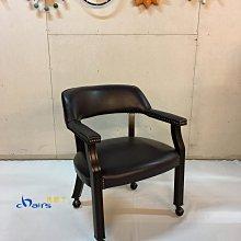 【挑椅子】扶手休閒滾輪椅 餐椅 辦公椅 書桌椅 (復刻品) ZY-C48