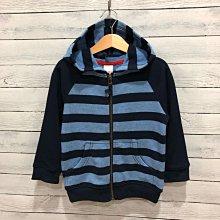Maple麋鹿小舖 美國購買童裝品牌 GYMBOREE 男童深藍+藍色條紋連帽外套 * ( 現貨3T )