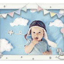 日本Ladonna Baby系列 純真夢想 5x7金屬白色相框/ MB98-2L
