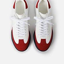Stella McCartney 全新真品義大利製logo復古超美紅白色休閒鞋 老爺鞋 增高鞋