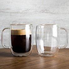 德國雙人Zwilling 2入 450ml*2 有把手 雙層 隔熱 玻璃杯 咖啡杯 耶誕禮物  高39500-114