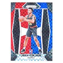 倒數5張!(RC) 老鷹核心 John Collins / Prizm Red White & Blue Rookie系列新人RC三色亮金屬卡 2017-18