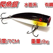 (訂單滿500超取免運費) 白帶魚休閒小鋪 T-012-19 黑金銀 波扒 波爬 波趴  各種 路亞 假餌