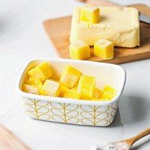 鄉村雜貨小市集*zakka 日雜款黃色線條琺瑯塑蓋保鮮保存奶油盒