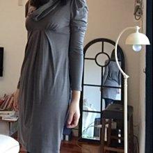 新年特降 vanessa bruno 垂領公主袖羊毛洋裝