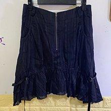 個性黑色造型及膝裙