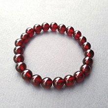 ☆采鑫天然寶石☆** 橙紅**荷蘭石/錳鋁榴石(石榴石Garnet)圓珠手鍊~橘紅耀眼~8.2mm