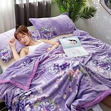 珊瑚薄款毯子夏季單人空調毛巾被子午睡法蘭絨夏天冬季加厚小毛毯-ZHENLE百貨