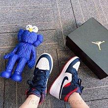 Nike Air Jordan 1 Mid SE AJ1 高幫 藍白紅 彩勾 拼接 籃球鞋 BQ6931-104 女鞋