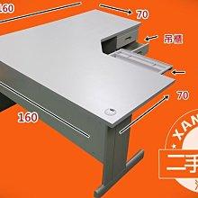 【土城二手OA辦公家具】桌面夠大.深度也都夠大.兩邊都可以使用.實用性強