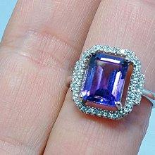 特惠商品-紫水晶戒指-2.08克拉 (Amethyst)~天然紫水晶~淺紫羅蘭~(女戒)-輕珠寶