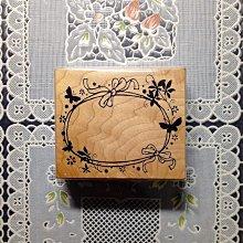 貝登堡印章~G章(GT-4476)蝴蝶花框