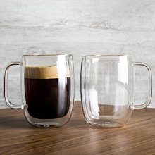 德國雙人Zwilling 2入 134ml*2 有把手 雙層 隔熱 玻璃杯 咖啡杯 耶誕禮物 #39500-111