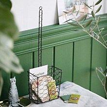 鄉村雜貨小市集*zakka 可壁掛手感編織方形鐵籃吊掛籃花器