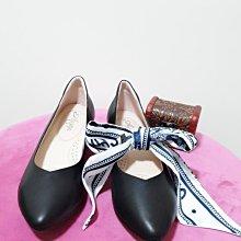 ♀️女:纖瘦V口尖頭時尚低跟鞋(黑)、時尚V口鞋、櫃姐必備鞋、OL上班鞋、真皮氣墊粗跟鞋、纖瘦跟鞋、3.5cm素面跟鞋