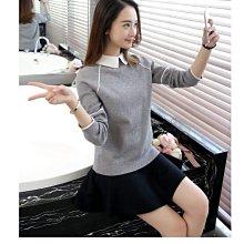 現貨【1226】長袖 韓系修身翻領長袖針織衫。☆*藍荳荳小舖*☆