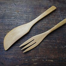 竹藝坊-J-03果醬抹刀。FS-02糕點專用叉子。