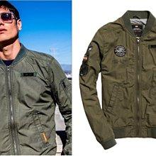 跩狗嚴選 空戰英雄 極度乾燥 Superdry Rookie 飛行夾克 薄款 貼布軍裝 格子布 復古 軍綠 外套 MA1